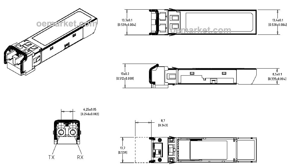 10gb  S Pluggable Sfp Transceiver
